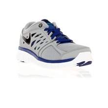 Nike flex 2013 rn (gs) wolf grey/black-hyper blue
