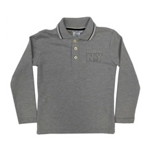 Polo gris chiné