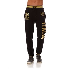 Pantalon de jogging noir et or