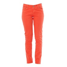 Pantalon slim rouge corail
