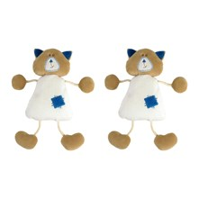 Apollon Le Chaton - Set van 2 knuffels - wit