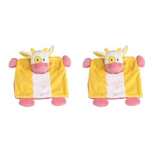 Potache La Vache - Lote de 2 peluches - tricolor