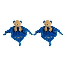 Salomon l'Ourson - 2-er Set Kuscheltiere - blau