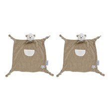 Lot de doudous Bodoudougant Nounours taupe