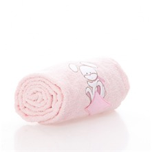 Drap de douche Doudou Rabbit rose