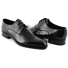 Men footwear: Ebony Natural Derby Lace-Up Shoes