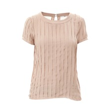 T-shirt en voile beige