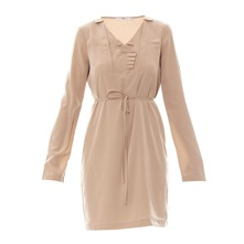 Robe tunique taupe