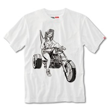 T-shirt Biker Babe blanc