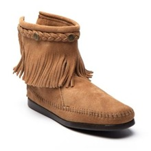 Boots 29 en cuir taupe