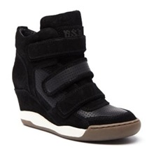 Baskets Alex en cuir noir