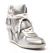 Sneakers Bowie en cuir argent