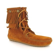 Boots 62 en cuir camel fonc