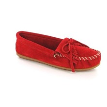 Mocassins 40 en cuir rouge