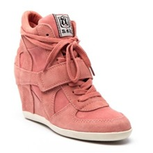 Sneakers Bowie en cuir corail