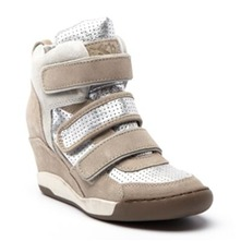 Baskets Alex en cuir beige