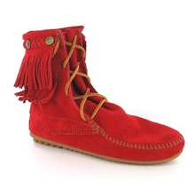 Boots 62 en cuir rouge