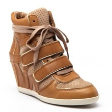 Sneakers Bixie en cuir camel