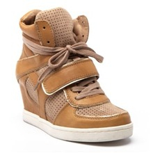 Baskets Coca en cuir camel