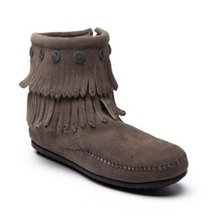 Boots 69 en cuir gris