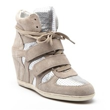 Sneakers Bea en cuir argent