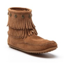 Boots 69 en cuir camel clair