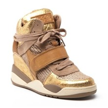 Baskets Funcky en cuir camel
