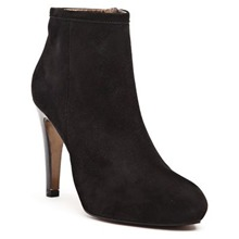 Boots Daphne en cuir noir