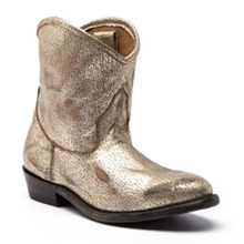 Boots Judy en cuir dor