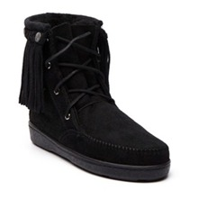 Boots fourres 343 en cuir noir