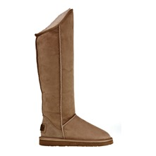 Bottes Cosy Extra Tall en cuir caf