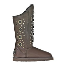 Bottes Saratoga en cuir marron