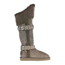 Bottes Shearling X-Tall Vintage en cuir bronze