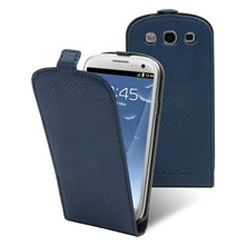 Etui Clapet + film protecteur d'cran Samsung i9300 Galaxy S III Bleu