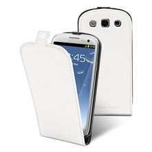 Etui Clapet + film protecteur d'cran Samsung i9300 Galaxy S III Blanc