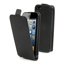 Etui Clapet + film protecteur d'cran iPhone5 Noir