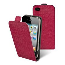 Etui Clapet + film protecteur d'cran iPhone4/4s Fushia