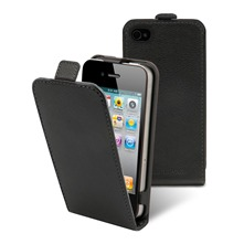 Etui Clapet + film protecteur d'cran iPhone4/4s Noir