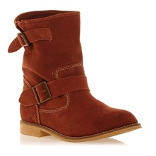 Boots en cuir sud cognac