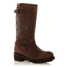 Bottes en cuir marron
