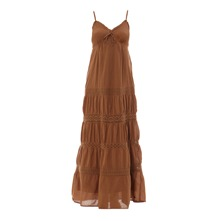 Robe longue camel