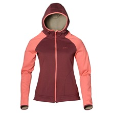 Sweat zipp Orinda rose et bordeaux