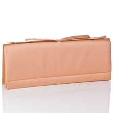 Women bags: Salmon Silk Clutch Bag
