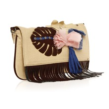 Pochette beige et marron
