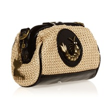 Pochette beige et noire