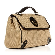 Sac  main beige et noir