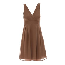 Robe en voile chiffon choco