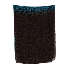 Snood léopard bleu