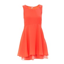Robe unie corail fluo