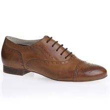 Derbies en cuir camel